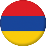 Armenia Country Flag 58mm Button Badge